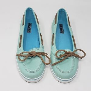 Sperry Top Sider Women's Green Lola Boat Shoes 9 M